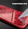 iPhone X / XS 360 Derece Koruma Desenli Manyetik Cam Kırmızı Kılıf - Resim 4