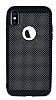 iPhone X Delikli Mat Siyah Silikon Kılıf - Resim 3