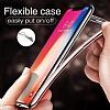 iPhone X / XS Dark Silver Kenarlı Şeffaf Silikon Kılıf - Resim 2