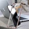 iPhone X / XS Dark Silver Kenarlı Şeffaf Silikon Kılıf - Resim 1