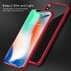 iPhone X Kırmızı Kenarlı Şeffaf Silikon Kılıf - Resim 3