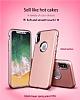 iPhone X Metal Kamera Korumalı Siyah Silikon Kılıf - Resim 5
