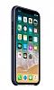 iPhone X Orjinal Midnight Blue Silikon Kılıf - Resim 2