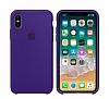 iPhone X / XS Orjinal Ultra Violet Silikon Kılıf - Resim 1