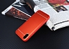 iPhone X Silikon Kenarlı Metal Kırmızı Kılıf - Resim 1