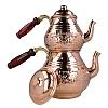 İşlemeli Rose Gold Bakır Çaydanlık