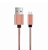 ivon Micro USB Rose Gold Metal Kısa Data Kablosu 35cm