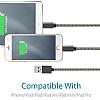 ivon Micro USB Siyah Metal Kısa Data Kablosu 35cm - Resim 2