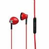 Ivon Mikrofonlu Kulakiçi Kırmızı Kulaklık - Resim 1