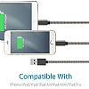 ivon USB Type-C Rose Gold Metal Kısa Data Kablosu 35cm - Resim 2