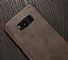 Jasean Samsung Galaxy S8 Deri Kahverengi Rubber Kılıf - Resim 6