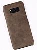 Jasean Samsung Galaxy S8 Deri Kahverengi Rubber Kılıf - Resim 5