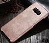 Jasean Samsung Galaxy S8 Deri Krem Rubber Kılıf - Resim 4