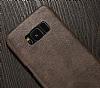 Jasean Samsung Galaxy S8 Plus Deri Kahverengi Rubber Kılıf - Resim 6