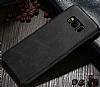 Jasean Samsung Galaxy S8 Plus Deri Siyah Rubber Kılıf - Resim 1