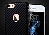 JLW iPhone 6 / 6S Karbon Siyah Rubber Kılıf - Resim 2