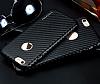 JLW iPhone 6 / 6S Karbon Siyah Rubber Kılıf - Resim 1