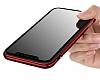Joyroom Epic iPhone X Metal Bumper Çerçeve Kırmızı Kılıf - Resim 2