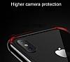 Joyroom Epic iPhone X Metal Bumper Çerçeve Kırmızı Kılıf - Resim 3