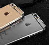 Joyroom iPhone 6 / 6S Silver Kenarlı Şeffaf Rubber Kılıf - Resim 8