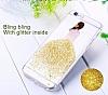 Joyroom iPhone 6 / 6S Kız Taşlı Beyaz Silikon Kılıf - Resim 4