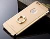 Joyroom iPhone 6 / 6S Selfie Yüzüklü Metal Gold Rubber Kılıf - Resim 1
