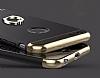 Joyroom iPhone 6 / 6S Selfie Yüzüklü Metal Gold Rubber Kılıf - Resim 4