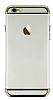 Joyroom iPhone 6 Plus / 6S Plus Gold Kenarlı Şeffaf Rubber Kılıf - Resim 11