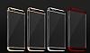 Joyroom iPhone 6 Plus / 6S Plus Gold Kenarlı Şeffaf Rubber Kılıf - Resim 10
