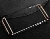 Joyroom iPhone 6 Plus / 6S Plus Rose Gold Kenarlı Şeffaf Rubber Kılıf - Resim 3
