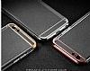 Joyroom iPhone 6 Plus / 6S Plus Rose Gold Kenarlı Şeffaf Rubber Kılıf - Resim 9