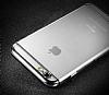 Joyroom iPhone 6 Plus / 6S Plus Gold Kenarlı Şeffaf Rubber Kılıf - Resim 2