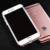 Joyroom iPhone 6 Plus / 6S Plus Rose Gold Kenarlı Şeffaf Rubber Kılıf - Resim 7