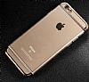 Joyroom iPhone 6 Plus / 6S Plus Gold Kenarlı Şeffaf Rubber Kılıf - Resim 1