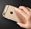 Joyroom iPhone 6 Plus / 6S Plus Gold Kenarlı Şeffaf Rubber Kılıf - Resim 6
