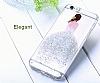 Joyroom iPhone 6 Plus / 6S Plus Kız Taşlı Beyaz Silikon Kılıf - Resim 1