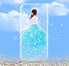 Joyroom iPhone 6 Plus / 6S Plus Kız Taşlı Mavi Silikon Kılıf - Resim 5