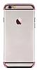 Joyroom iPhone 6 Plus / 6S Plus Rose Gold Kenarlı Şeffaf Rubber Kılıf - Resim 11
