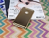 Joyroom iPhone 6 Plus / 6S Plus Metalik Gold Rubber Kılıf - Resim: 2