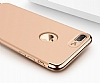 Joyroom iPhone 7 Plus 3 in 1 Rose Gold Rubber Kılıf - Resim: 3