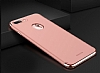 Joyroom iPhone 7 Plus 3 in 1 Rose Gold Rubber Kılıf - Resim: 7