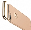 Joyroom iPhone 7 Plus 3 in 1 Rose Gold Rubber Kılıf - Resim: 6
