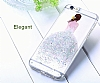 Joyroom iPhone 7 Plus / 8 Plus Kız Taşlı Mavi Silikon Kılıf - Resim 1