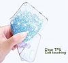 Joyroom iPhone 7 Plus / 8 Plus Kız Taşlı Mavi Silikon Kılıf - Resim 3