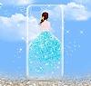 Joyroom iPhone 7 Plus Kız Taşlı Mavi Silikon Kılıf - Resim 5