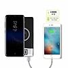 Kablosuz Şarj Özellikli 10000 mAh Powerbank Beyaz Yedek Batarya - Resim 1