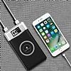 Kablosuz Şarj Özellikli 10000 mAh Powerbank Beyaz Yedek Batarya - Resim 4