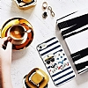 Karl Lagerfeld iPhone 7 / 8 Çizgilii Silikon Kılıf - Resim 1