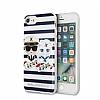 Karl Lagerfeld iPhone 7 / 8 Çizgilii Silikon Kılıf - Resim 3