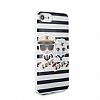 Karl Lagerfeld iPhone 7 Plus / 8 Plus Çizgili Silikon Kılıf - Resim 1